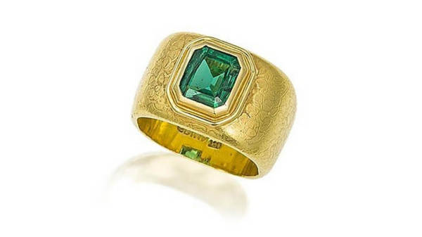 Bonhams Auction Emerald Ring by Grima