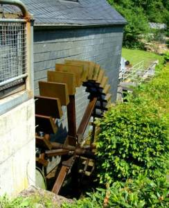 "The ""Historische Weiherschleife"" - the last gemstone waterwheel grinding mill on the Idar Brook."