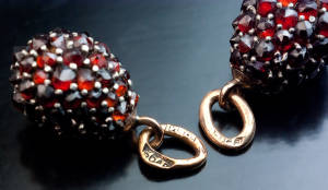 bohemian garnet earrings romanovs
