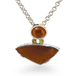 diana-widman-72-necklace-silver-gold-carnelian-mandarin-garnet-malaia-garnet