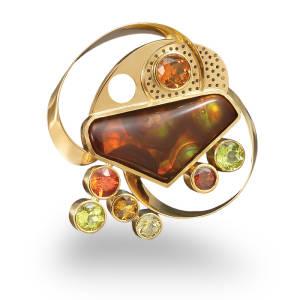 diana-widman-75-brooch-18k-gold-fire-agate-spessartite-citrine-quartz-peridot