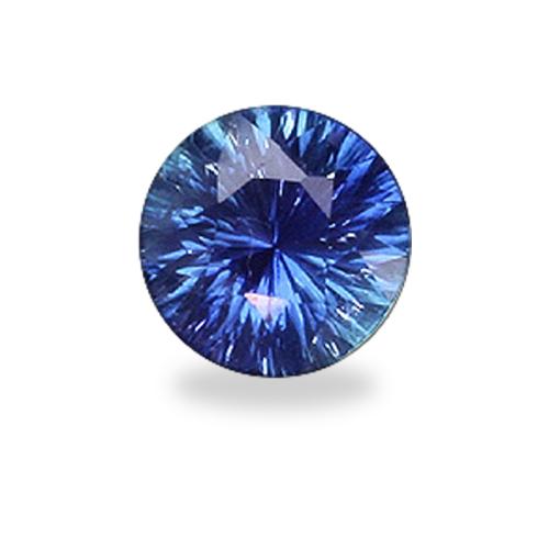Round 'Concave Brilliant' Cut Blue Sapphire