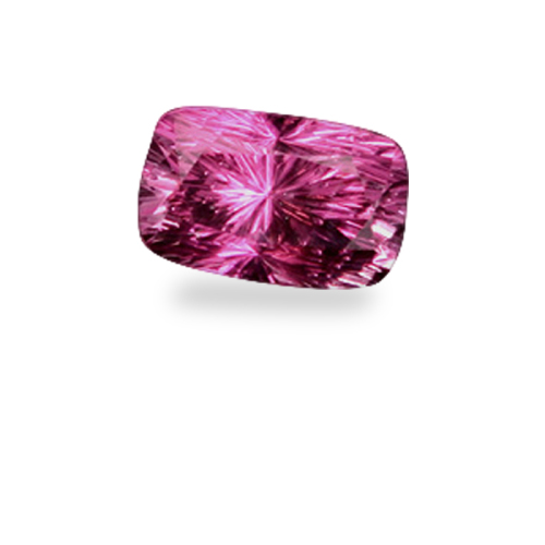 Antique Cushion Shape, 'Concave Brilliant' Cut Fucshia Spinel