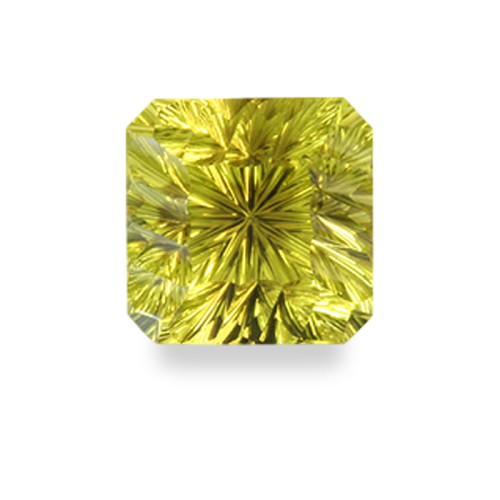 Square Emerald Shape, 'Canted Concave Brilliant' Cut Oro Verde Quartz