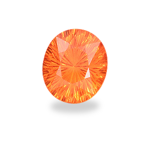 Oval 'Concave Brilliant' Cut Mandarin Spessartite