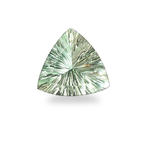 Triangular Cushion Shape, 'Concave Brilliant' Cut Antique Aquamarine