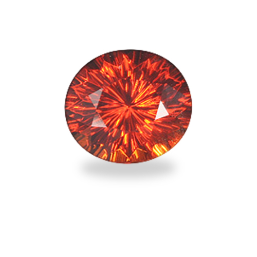 Oval 'Concave Brilliant' Cut Orange Spessartite Garnet