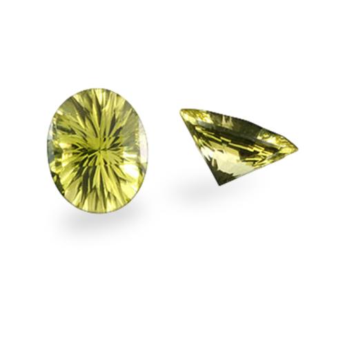 Oval 'Concave Brilliant' Cut Oro Verde Quartz