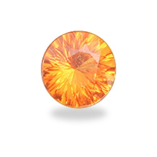 Round 'Concave Brilliant' Cut Mandarin Spessartite