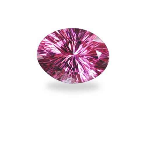 Oval 'Concave Brilliant' Cut Pink Tourmaline