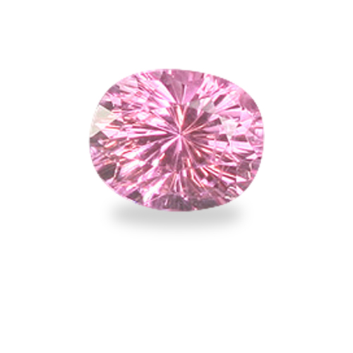 Oval 'Concave Brilliant' Cut Pink Spinel