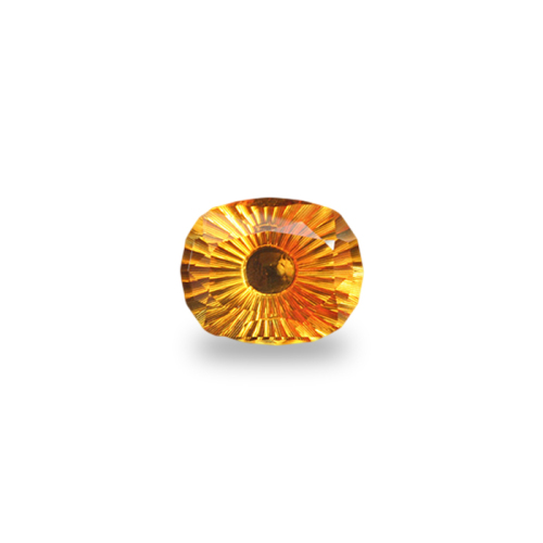Antique Cushion Shape, Concave Occulus Cut Citrine