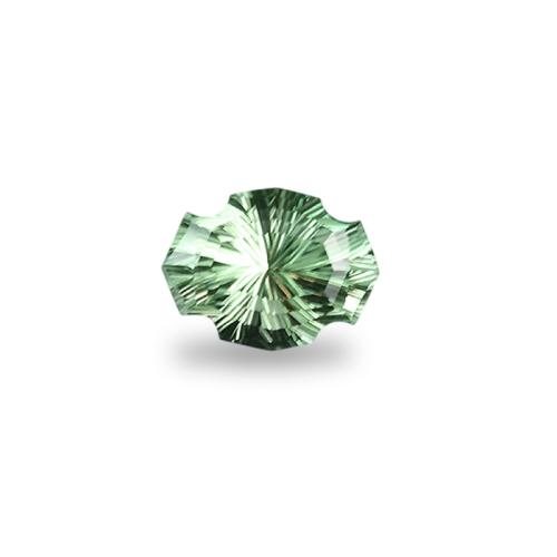 Victorian Cross Shape, 'Concave Brilliant' Cut Mint Prasiolite
