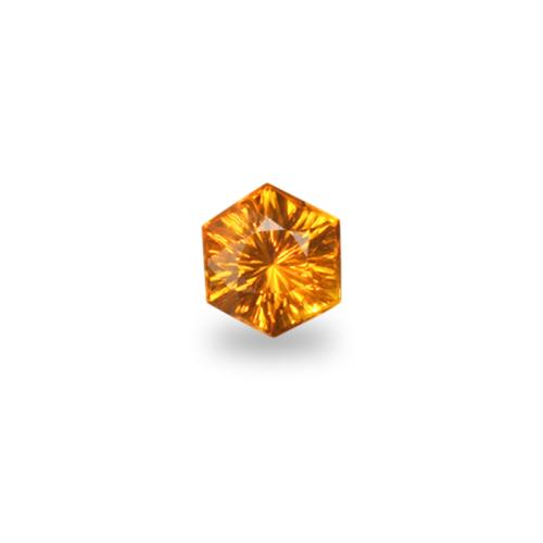 Hexagonal 'Concave Brilliant' Cut Golden Sapphire