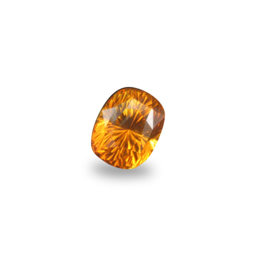 Antique Cushion Shape, 'Concave Brilliant' Cut Gold Sapphire