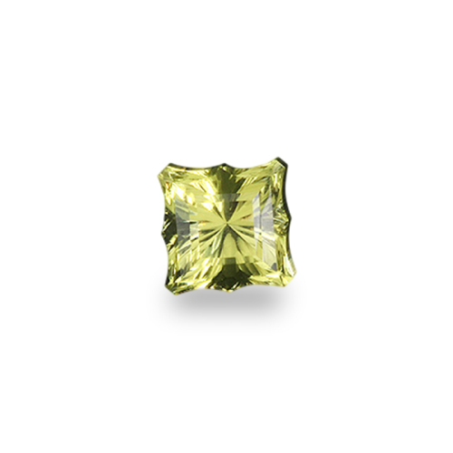 Square Emerald Shape, 'Postage Stamp' Cut Oro Verde Quartz