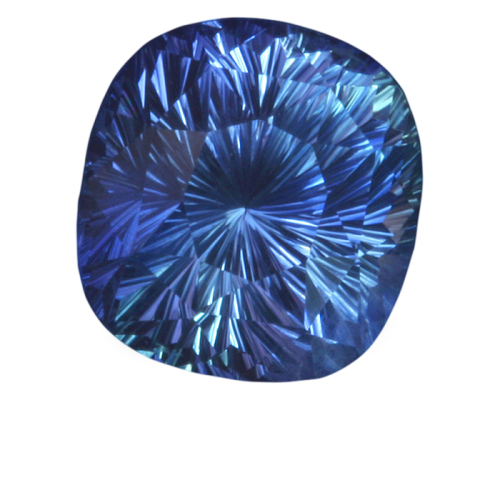 Antique Cushion Shape, 'Concave Brilliant' Cut Blue Sapphire