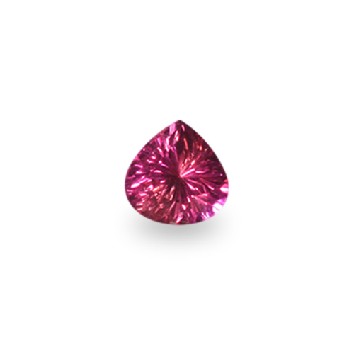 Pear-Shaped 'Concave Brilliant' Cut Pink Sapphire