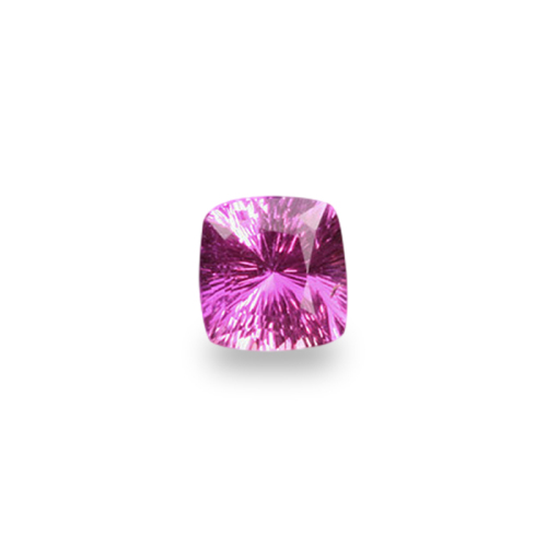 Antique Cushion Shape, 'Concave Brilliant' Cut Pink Sapphire