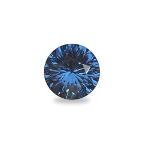 Round 'Concave Brilliant' Cut Cobalt Blue Spinel