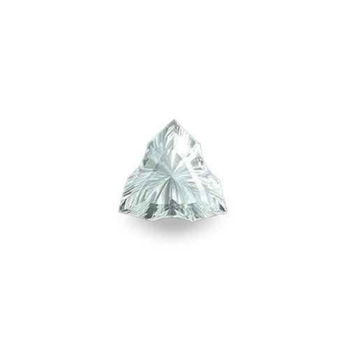 Triskelion Triangle-Shaped, 'Concave Brilliant' Cut Aquamarine