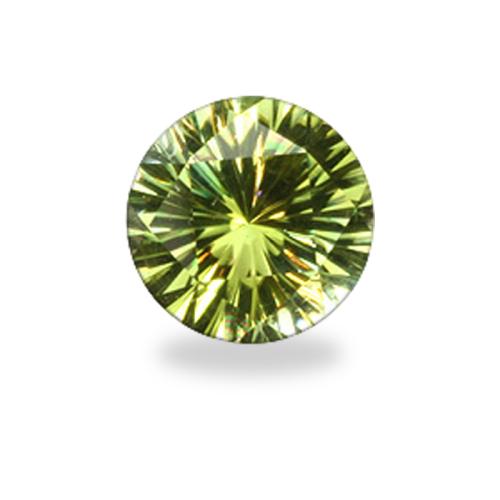 Round 'Concave Brilliant' Cut Verdelite Tourmaline