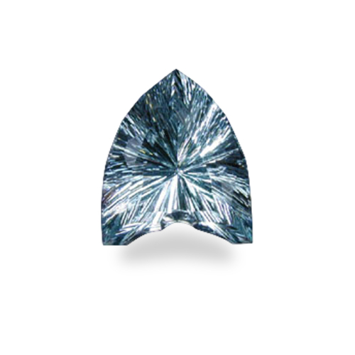 Shield-Shaped 'Concave Brilliant' Cut Aquamarine