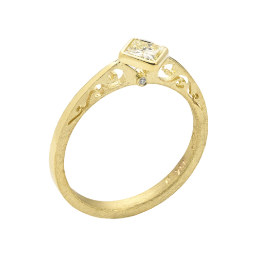 Yellow Gold Diamond Ring, 'Contour Collection'