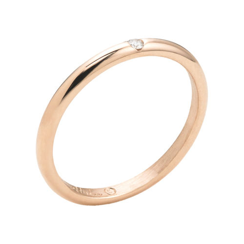 Rose Gold Band, 'Contour Collection'