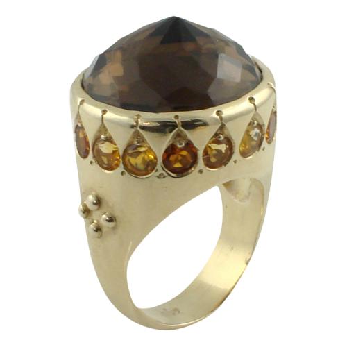 ana-cavalheiro-2-ring-14k-yellow-gold-smokey-quartz-madeira-citrine-citrine