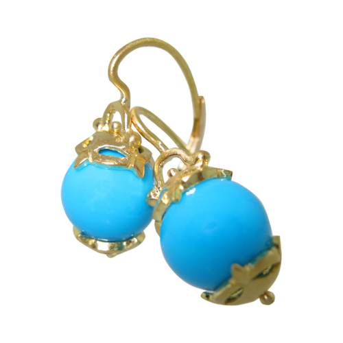 Amulet Earrings with Turquoise