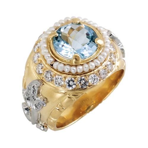 Seed Pearl Elizabethan Ring