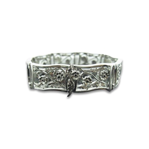 Sterling Silver & Rhodium Plating Bouquet Bracelet