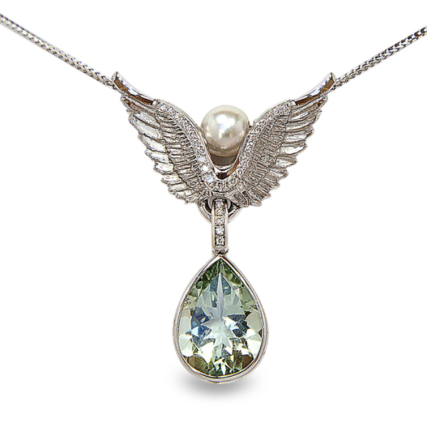 mirjam-butz-brown-21-necklace-palladium-950-18k-white-gold-diamonds-green-amethyst-pearshape-baroque-akoya-pearl