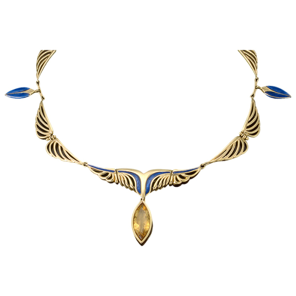 mirjam-butz-brown-9-necklace-18k-yellow-gold-uv-cured-enamel-citrine