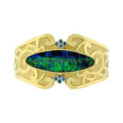paula-crevoshay-35-bracelet-18k-yellow-gold-boulder-opal-sapphire