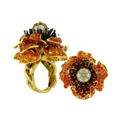 paula-crevoshay-43-ring-18k-yellow-gold-flower-poppy-black-gold-moonstone-diamonds-fire-opal