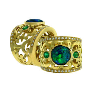 paula-crevoshay-50-ring-black-blue-18k-yellow-gold-black-opal-emerald-diamond