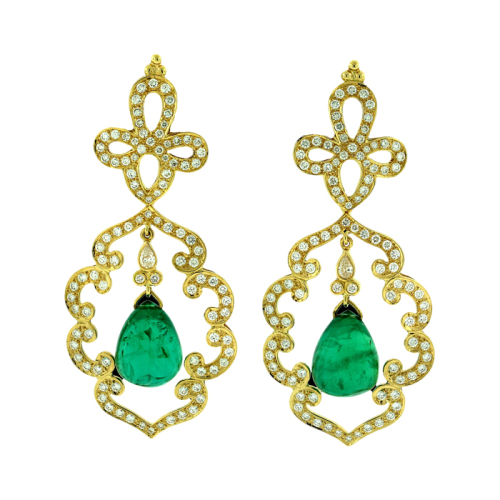 Emerald & Diamond Earrings