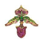 paula-crevoshay-57-pendant-18-kt-gold-orchid-lady-slipper-tourmaline-garnet-amthyst