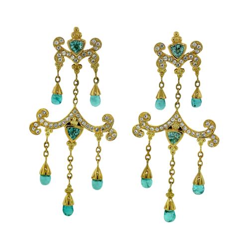 Zircon & Apatite Earrings