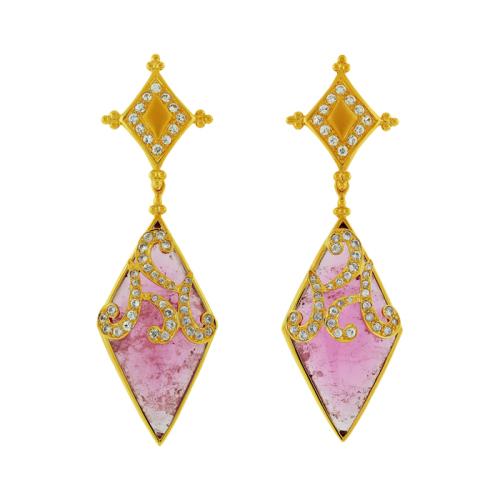 Tourmaline & Zircon Earrings
