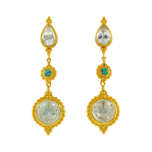 Moonstone & Quartz Earrings