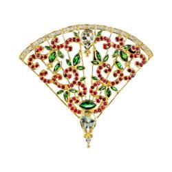 paula-crevoshay-94-brooch-tsavorite-diamond-moonstone-ruby