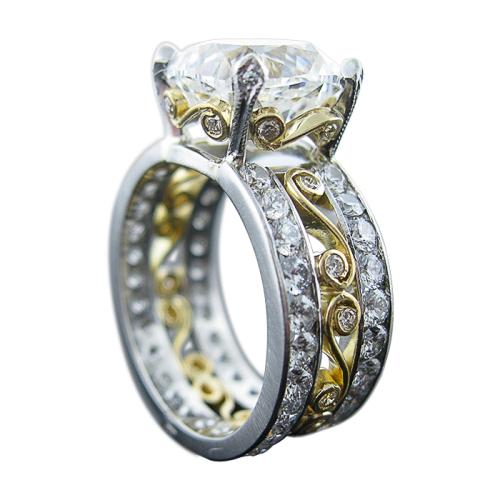 Platinum & Gold Engagement Ring