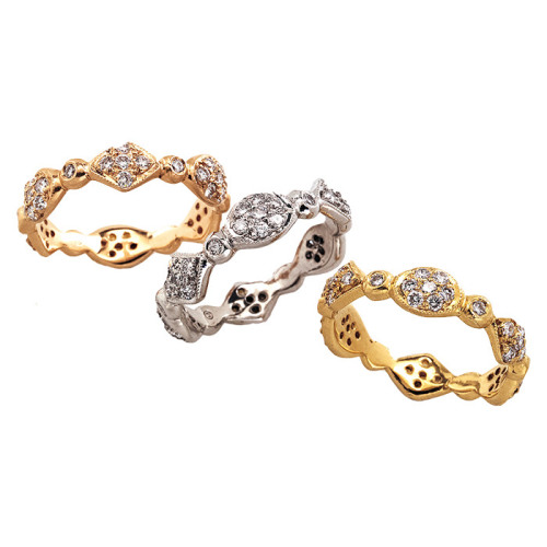 Pave Diamonds Solid Gallant Bands