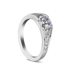 Sholdt Design, Split-Shank Pave Semi-Mount Ring