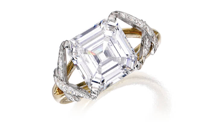 Sotheby's Auction Gold, Platinum and Diamond Ring