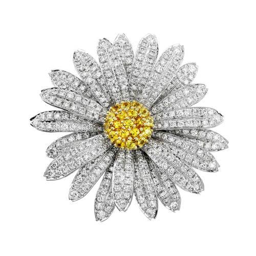 Daisy Flower Diamond Pin