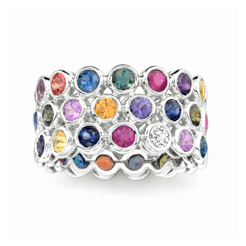 Multicolor Sapphires Seasons Ring